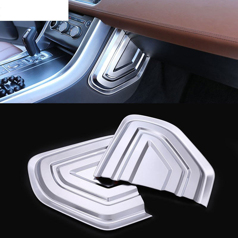 For Land Rover Range Rover Sport 2014-2017 ABS Chrome Contral U Shape Panel Cover Trim Car Accessories 2pcs silver black side fender sticker for land rover range rover evoque 2011 2016 abs chrome car accessories