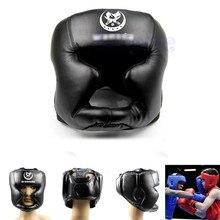 Black New Good Headgear Head Guard Trainning Helmet Kick Boxing Gear