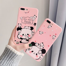 Cute Panda Case For iPhone X XR XS Xs Max 7 8 Plus Cases Soft TPU Phone Cover For iPhone 6S Plus 6 Plus Case Phone Accessories чехол для samsung galaxy s8 sm g955 silicone cover розовый
