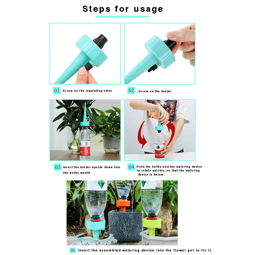 Image 3 - 6PCS or 12PCS Automatic Watering Device Self Watering Spike Slow Release Vacation Plants Watering System PP Irrigation Plants-in Garden Water Connectors from Home & Garden