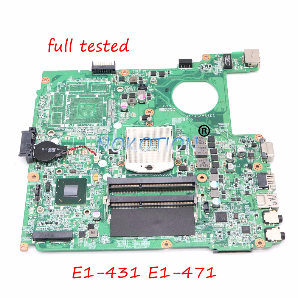 NOKOTION NBM0Q11001 NB M0Q11 001 Laptop Motherboard For Acer aspire E1 431 E1 471 DAZQSAMB6F1 HM77