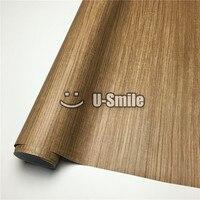 Тиковая деревянная текстура обертывание автомобиля дерево винил для настенной мебели салона автомобиля Размер: 1,24X50 м/рулон (4ftX165ft)