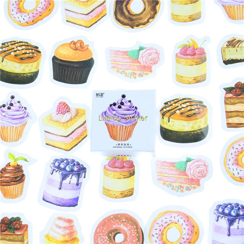 45 Pcs/lot Birthday Cake Mini Paper Sticker Decoration DIY Ablum Diary Scrapbooking Label Sticker Kawaii Stationery crochet fringe sleeve open shoulder top