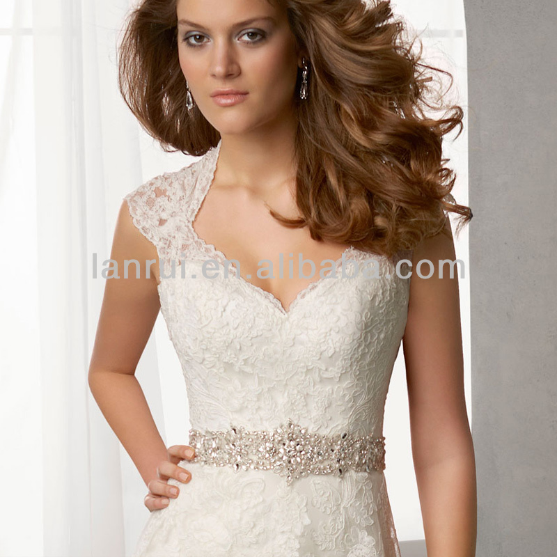 A line lace wedding dress with keyhole back cocktail