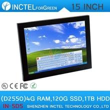 Встраиваемых промышленных ВСЕ В ОДНОМ PC15 дюймовый 4: 3 6COM LPT с 4 Г RAM 120 Г SSD 1 ТБ HDD