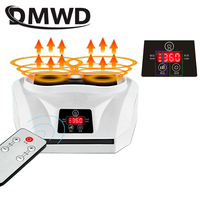DMWD Mini Electric Clothes Dryer Remote Laundry Garment Warm Wind Blower Drying Machine Hot Air Fan Heater Stove Radiator Warmer