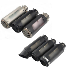 51-60.5mm Silencer Motorcycle Exhaust Muffler Tip Pipe Silp On 245-300mm System