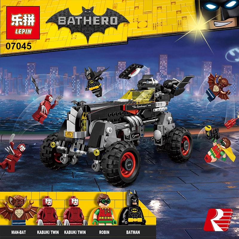 ФОТО Lepin 07045 559pcs Genuine New Superhero Movie Series The Batman Robbin`s Mobile Set Building Blocks Bricks Toys 70905 ACTUALS