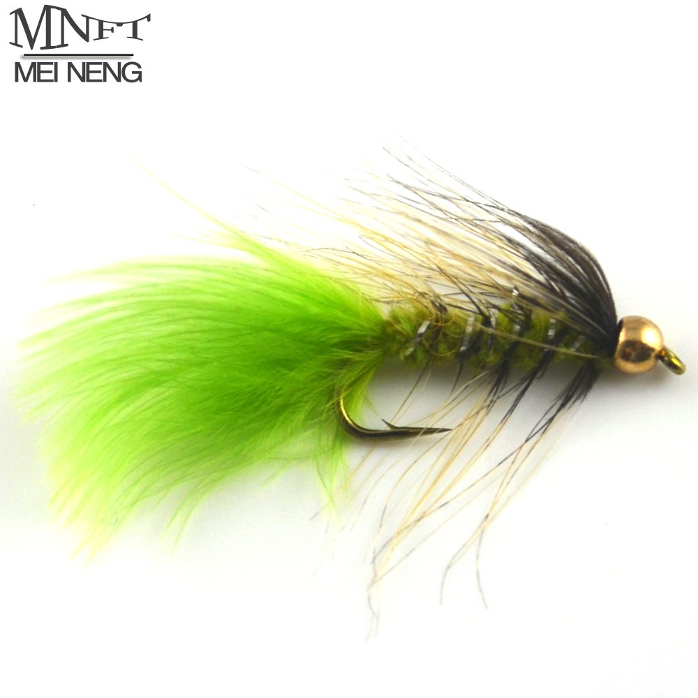 MNFT 10PCS/Pack Goldhead Trout Fishing Flies, Fishing Lures, Size 10# Barbed Hooks - Bead Head Fishing Flies 12pcs 14 red tail bead head buzzer nymph fly for trout fishing lures