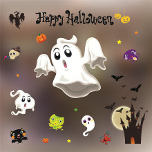 new arrival diy art free shipping 2017 happy halloween decorations shopping mall bar ktv static window