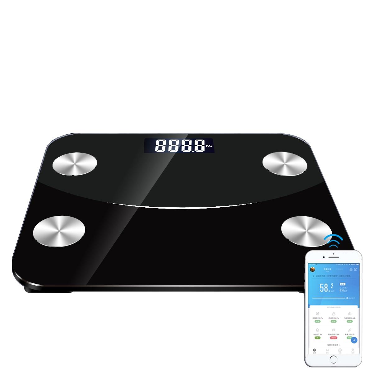 Bluetooth Body Fat Scale Smart BMI Digital Bathroom Wireless Weight Floor Scale Body Composition Analyzer with Smartphone App