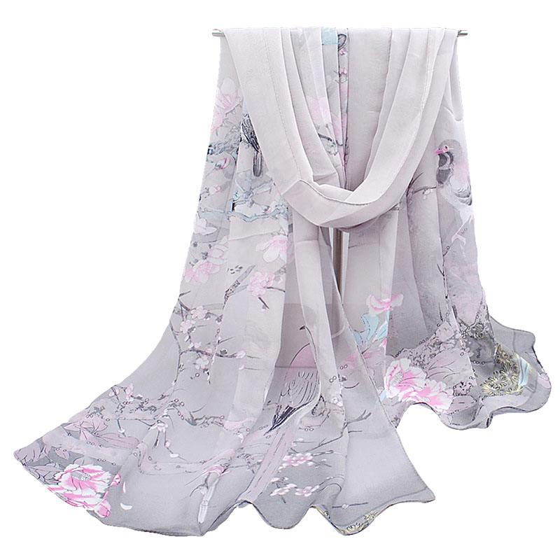 Women Fashion Pretty Print Long Soft Chiffon   Scarf     Wrap   Shawl Stole   Scarves   Hot