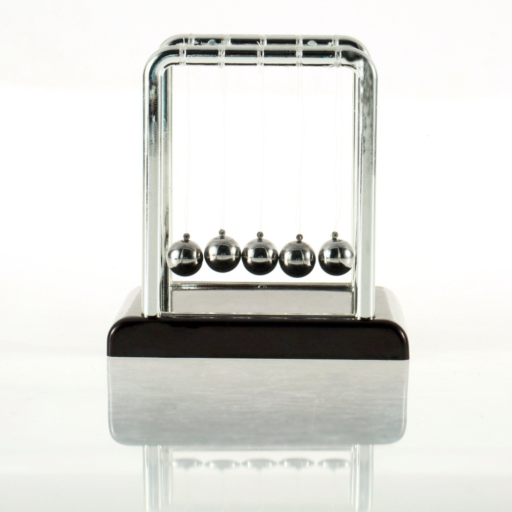 New arrival tons Cradle Fun Steel Balance Ball Physics Science Desk Toy christmas Gift New Hot!