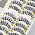 Природных Поддельные Длинные Ресницы Толстые Полные Накладные Ресницы Черный Индивидуальный Ресницы 3d Норки Wimpers Extension Beauty Макияж Инструмент D-4