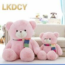 LKDCY // Crianças cardíaca cachecol segurar urso urso de pelúcia boneca urso de brinquedo de pelúcia boneca bonito presente de aniversário para as mulheres