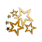 50Pcs Assorted Size Hollow Star Shape Unfinished Wood Embellishments Craft for DIY Wedding Party Decor Favor Gift Tag Scrapbook