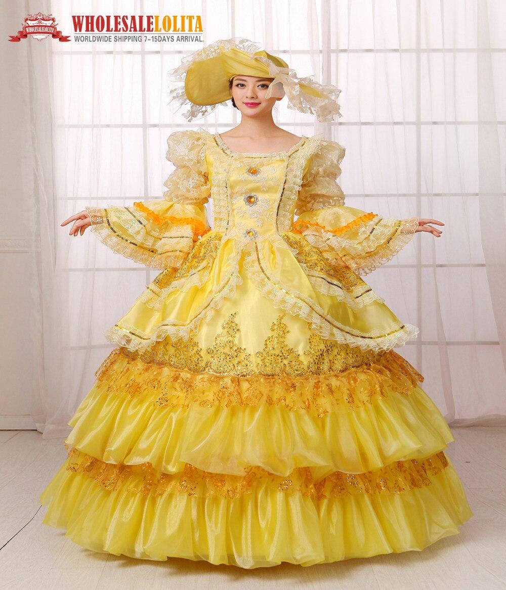 HOT!! Global FreeShipping 18th Century Marie Antoinette Belle Dress ...