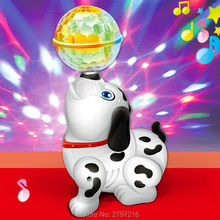 Baby young children's toys electric dog innovation dynamic music dance rotate 360 degrees dream all over the sky star 3D light