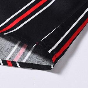 Image 5 - Мужская хлопковая рубашка в разноцветную полоску, удобная классическая рубашка в стиле смарт кэжуал, с короткими рукавами, воротником на пуговицах, не требует особого ухода
