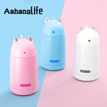 330ml New Thermos Cup Cartoon Cat Thermo Mug Drinkware Water Bottle Stainless Steel Vacuum Flask Cup