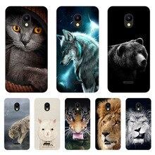 Meizu c9 pro caso, silicone animais ferozes pintura tpu macio capa traseira para meizu c9 telefone escudo funda