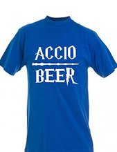 Summer Casual T-Shirt Accio Beer Customized Harry Potter inspired T-shirt(China (Mainland))