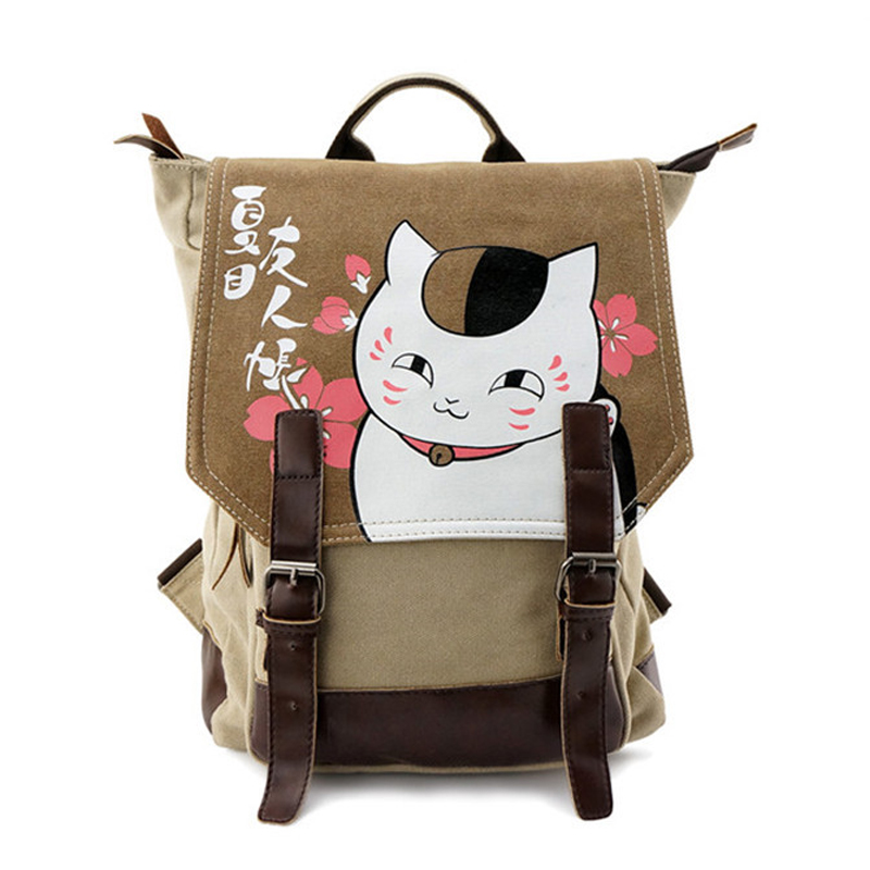 Anime Natsume Yuujinchou Cat Printing Students Backpack