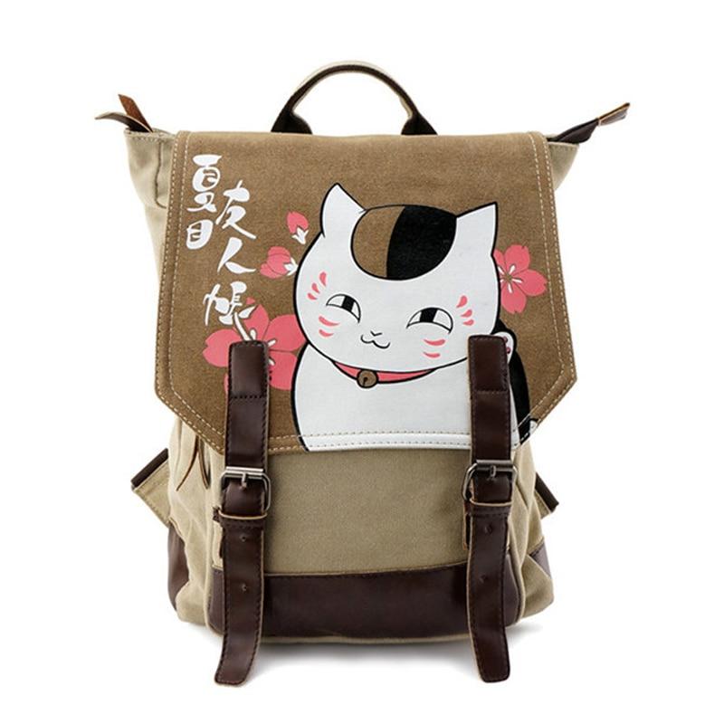 Anime Natsume Yuujinchou Cat Printing Students Backpack Mochila for Teenagers Back <font><b>Pack</b></font> Rucksack Travel Daypack