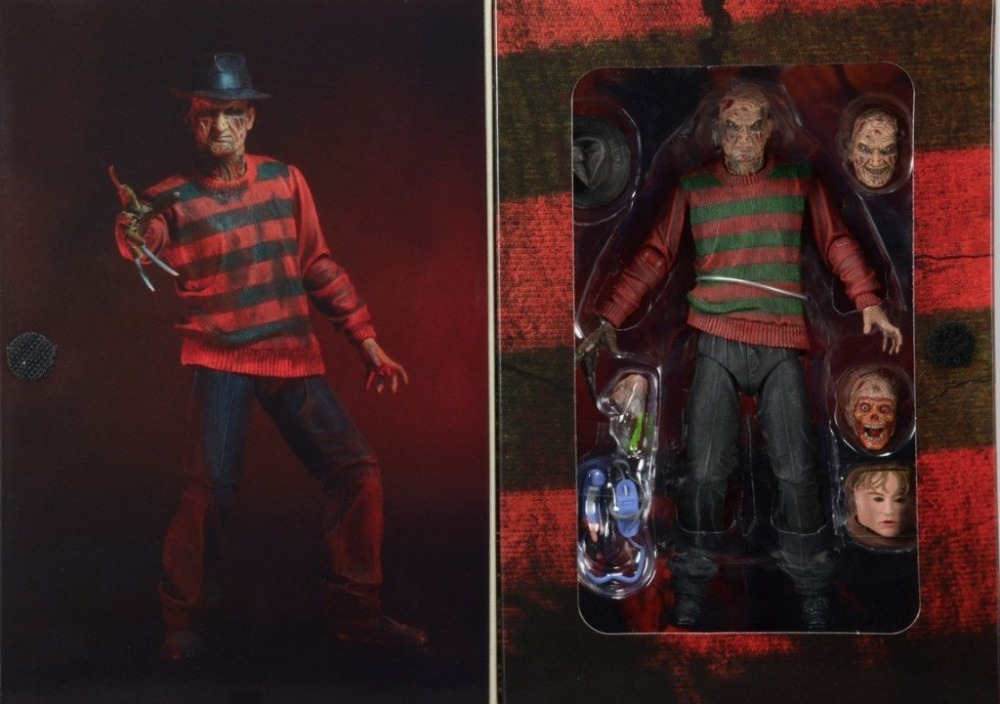 """<font><b>New</b></font> Classic Horror Movie <font><b>Nightmare</b></font> <font><b>on</b></font> <font><b>Elm</b></font> <font><b>Street</b></font> 30th Anniversary Ultimate <font><b>Freddy</b></font> NECA <font><b>7</b></font>"""" Action Figure Original Box"""