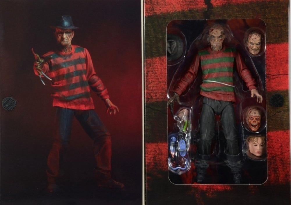 "New Classic Horror Movie <font><b>Nightmare</b></font> <font><b>on</b></font> <font><b>Elm</b></font> <font><b>Street</b></font> 30th <font><b>Anniversary</b></font> Ultimate Freddy NECA <font><b>7</b></font>"" Action Figure Original Box"
