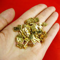 Atacado acessórios para Móveis acessórios de Hardware Pequena caixa dobradiças Dobradiças para caixa de Jóias de Metal de Bronze 100 pçs/lote Frete grátis