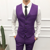 Men Suit Vest Classic V Collar Dress Slim Fit Wedding Waistcoat Mens Formal Sleeveless Work Formal Vest Men Black Gilet Homme