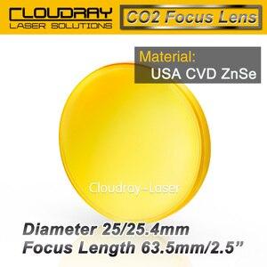 """Image 4 - Cloudray eua cvd znse lente de foco diâmetro. 25/25. 4mm fl50.8/63.5/101.6mm 2 5 """"para co2 gravação a laser máquina de corte frete grátis"""