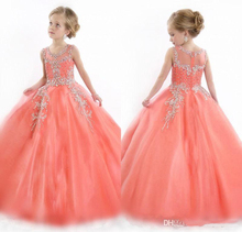 Christmas Girls dress Lace Princess dresses Bling bling Sequins cape costume stage