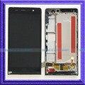 Черный ЖК-Дисплей С Сенсорным Экраном Дигитайзер Ассамблеи + Рамка Для Huawei Ascend P6 P6-U06