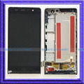 Black LCD Display Touch Screen Digitizer Assembly+Frame For Huawei Ascend P6 P6-U06
