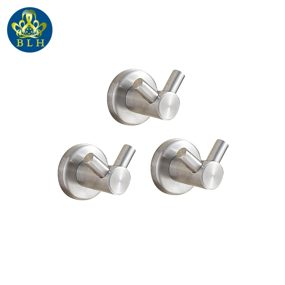 831 3 Bathroom Accessories Pieces 304 Stainless Steel Brushed Nickel Wall Hooks Metal Coat Hook Towel Hanger Cabide De Parede In Robe From Home