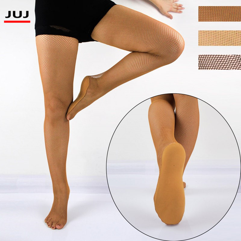 Sexy Women Ladies Latin Dance Competitions Pantyhose Hard Yarn Elastic Fishnet Stockings For Ballroom Professional Tights