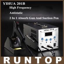 YIHUA-201B 130 w wysokiej częstotliwości elektryczna stacja lutownicza antystatyczna automatycznego ssania ssania tin tin pistolet z wyjątkiem cyny narzędzie