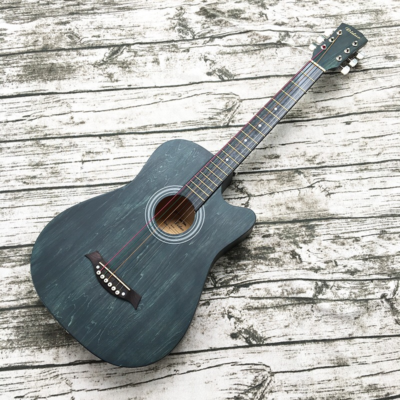 hot selling 38 inch acoustic guitar student practice guitar rosewood in guitar from sports. Black Bedroom Furniture Sets. Home Design Ideas