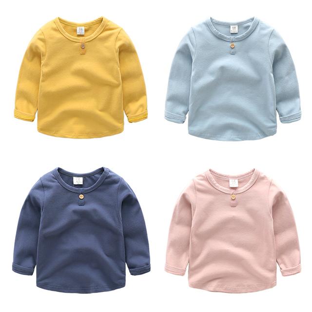 Crianças Meninos do bebê T-shirt das crianças de manga comprida primavera e no outono