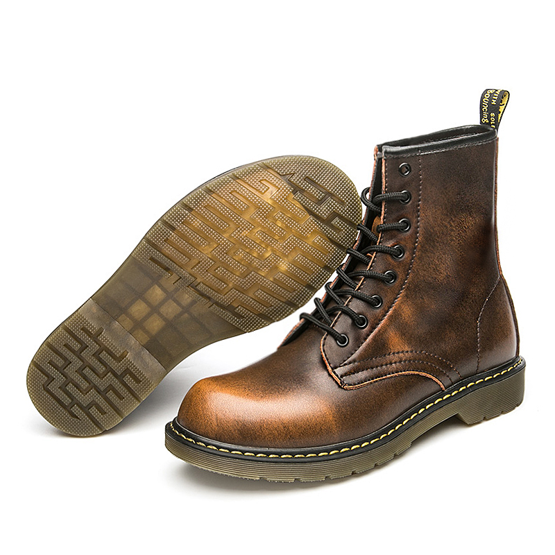 2018 Men's Martin Boots Winter /Autumn Big Size Men Mid-Calf Boots Casual Ankle Boots Mens Retro Snow Boots Men