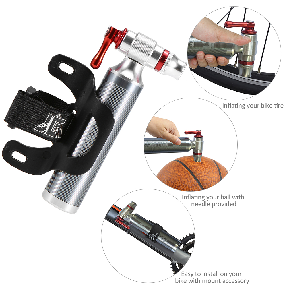Bike Manual Inflator Bicycle Cycling CO2 Tire Inflator No Cartridge Included