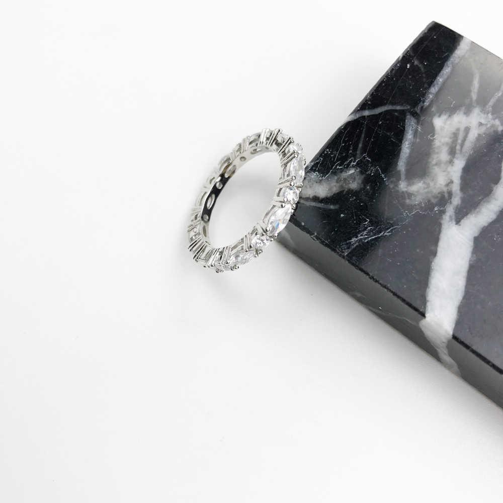 สีขาว Pave Boho แหวน Eternity, Thomas สไตล์ Glam แฟชั่นดีเครื่องประดับสำหรับผู้หญิง, 2019 Ts ของขวัญ 925 เงินสเตอร์ลิง, Super Deals