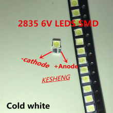 50pz/lotto Jufei 3528 SMD LED 2835 6 V bianco Freddo 96LM par La TV LCD rétroilluminazione application(China)
