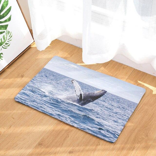 Whale Print Anti-Slip Rug 5