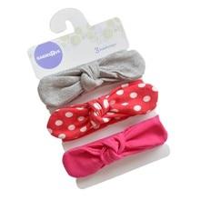 Korean Style Children Baby Girl Cute Hair Band Cotton Stretch Rabbit Ears Bow Decoration Headband
