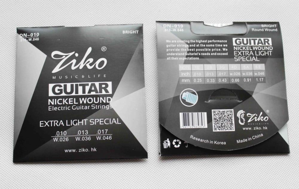 dn 010 ziko nickel wound electric guitar strings super light 010 046 in guitar parts. Black Bedroom Furniture Sets. Home Design Ideas