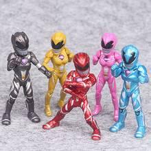 5pcs/set Dinosaur Team Power Dolls Around The Film Warrior D Model PVC Ranger Action Figure Collecting Gifts