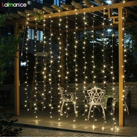 AC 220V 6X3M 600LED Icicle String Lights Christmas xmas Fairy Lights Outdoor Home For Wedding/Party/Curtain/Garden Decoration
